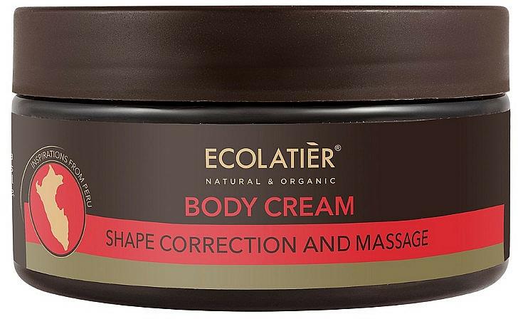 Crème modelante de massage à l'huile de graines de cacao pour corps - Ecolatier