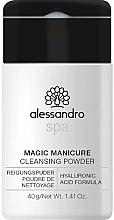 Parfums et Produits cosmétiques Poudre nettoyante à l'acide hyaluronique pour mains - Alessandro International Spa Magic Manicure Cleansing Powder