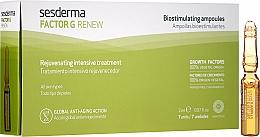 Parfums et Produits cosmétiques Soin rajenissant pour le visage en ampoules - SesDerma Laboratories Factor G Renew Biostimulating Ampoules