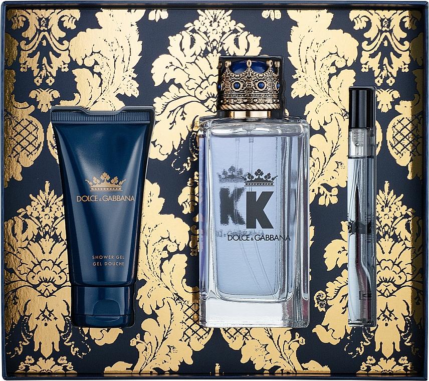 Dolce&Gabbana K by Dolce&Gabbana - Coffret (eau de toilette/100ml + gel douche/50ml + eau de toilette mini/10ml)