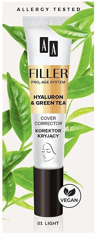 Correcteur au collagène et hyalurone pour le visage - AA Filler Cover Corrector