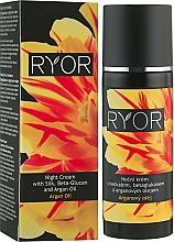 Parfums et Produits cosmétiques Crème de nuit à la soie, bêta-glucane et à l'huile d'argan - Ryor Night Cream With Silk, Beta-Glucan And Argan Oil