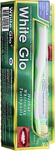 Parfums et Produits cosmétiques White Glo Herbal White - Set (dentifrice/100ml + brosse à dents blanc-vert/1pc)