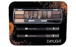 Parfums et Produits cosmétiques Kit de maquillage - Cosmetic 2K Night & Day (fard à paupières/8,16g + crayon contour yeux/2x0,6g)