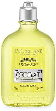 Gel douche à l'extrait de cédrat de Corse pour corps et cheveux - L'Occitane Cedrat Shower Gel — Photo N1