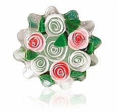 Parfums et Produits cosmétiques Savon à la glycérine Corbeille de roses, blanc-rose - Bulgarian Rose Glycerin Soap Rose Fantasy