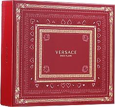 Parfums et Produits cosmétiques Versace Eros Flame - Coffret (eau de parfum/100 ml + gel douche/150 ml + eau de parfum/10ml)