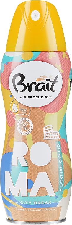 Désodorisant aérosol City Break -Roma - Brait Dry Air