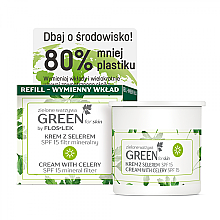 Parfums et Produits cosmétiques Crème de jour à l'extrait de graines de céleri SPF 15 - Floslek Green For Skin Day Cream Refill
