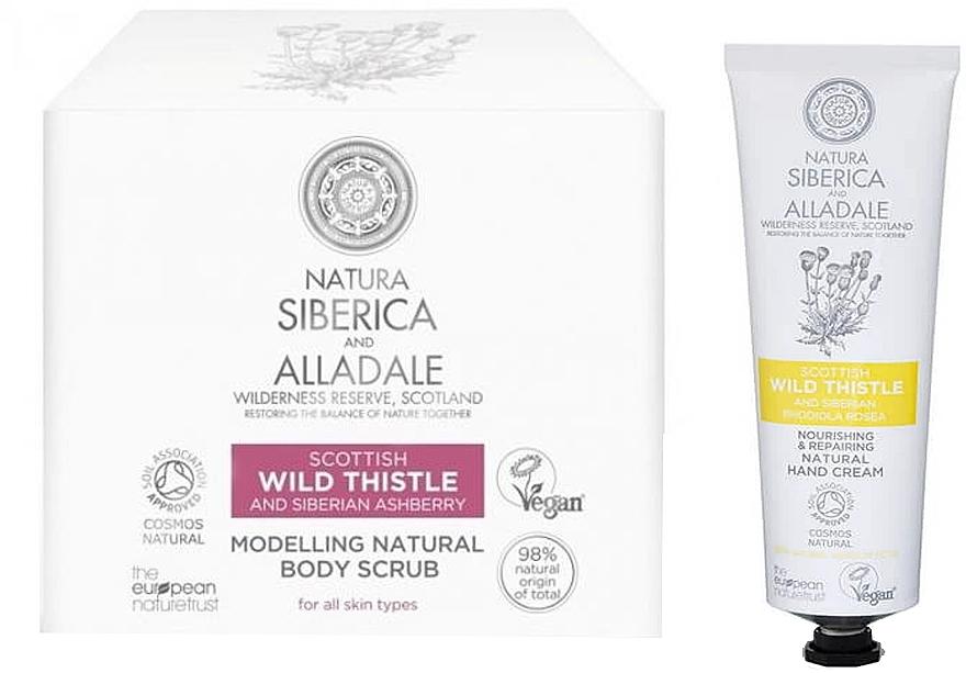 Natura Siberica Alladale - Set (gommage pour corps/370ml + crème pour mains/75ml)