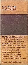 Huile essentielle de citron 100 % pure - Apivita Aromatherapy Organic Lemon Oil — Photo N3