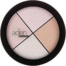 Parfums et Produits cosmétiques Palette d'enlumineurs - Aden Cosmetics Highlighter Palette