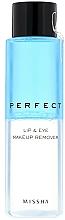 Parfums et Produits cosmétiques Démaquillant - Missha Perfect Lip & Eye Make-Up Remover