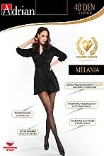 Parfums et Produits cosmétiques Collant pour femme, Melania String, 40 Den, nero - Adrian