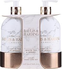 Parfums et Produits cosmétiques Coffret cadeau - Baylis & Harding White Tea & Neroli Hand Care Set (soap/500ml + h/b/lotion/500ml)