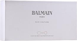 Parfums et Produits cosmétiques Balmain Paris Hair Couture Gold Brush Set Mini - Coffret (élixir à la soie pour cheveux/50ml + brosse à cheveux + miroir de poche)