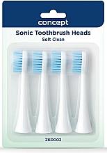 Parfums et Produits cosmétiques Têtes de remplacement pour brosse à dents électrique, ZK0002 - Concept Sonic Toothbrush Heads Soft Clean