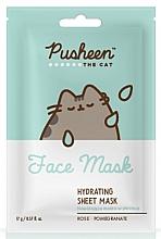 Parfums et Produits cosmétiques Masque tissu à l'eau de rose pour visage - Pusheen The Cat Hydrating Sheet Mask