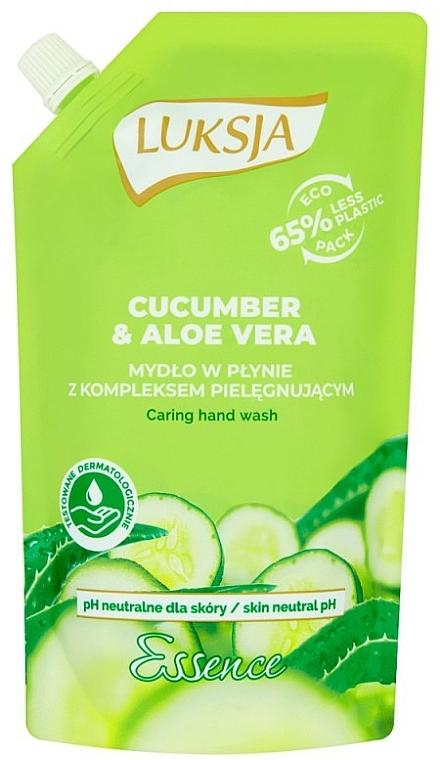 Savon liquide au concombre et aloe vera (recharge) - Luksja Cucumber & Aloe Soap