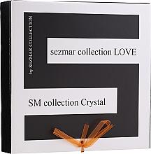Parfums et Produits cosmétiques Sezmar Collection Love Crystal - Set (gel douche/250ml + huile de massage/100ml + lotion pour corps/200ml)