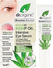Parfums et Produits cosmétiques Sérum bio à l'huile de chanvre bio contour des yeux - Dr. Organic Bioactive Skincare Hemp Oil Intensive Eye Serum