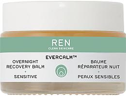 Parfums et Produits cosmétiques Baume de nuit apaisant à l'huile d'olive et amande pour visage - Ren Evercalm