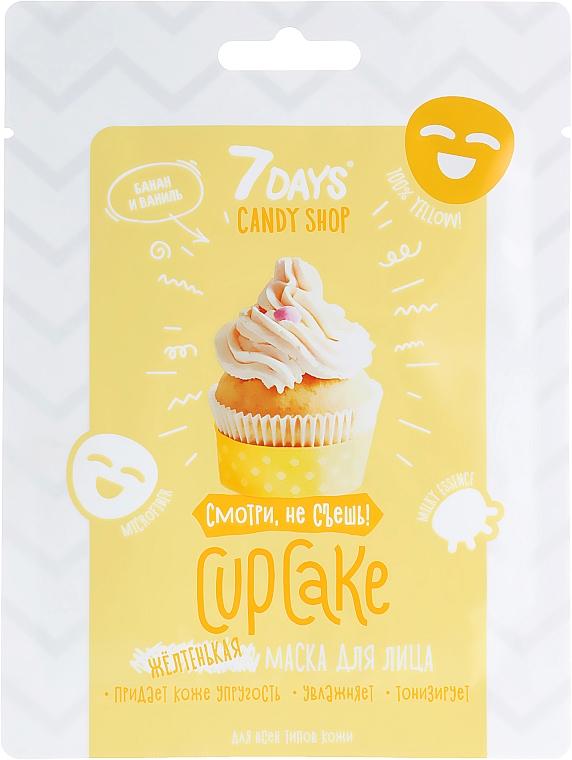 Masque tissu à l'arôme de vanille et banane pour visage - 7 Days Candy Shop