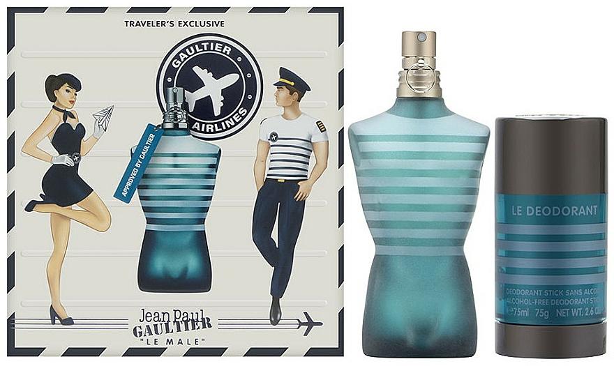 Jean Paul Gaultier Le Male - Coffret (eau de toilette/75ml + déodorant stick/75ml)