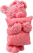 Parfums et Produits cosmétiques Savon naturel arisanal, Ours avec oreiller, rose - LaQ