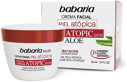 Crème visage à l'aloe vera pour peaux atopiques - Babaria Atopic Face Cream — Photo N1