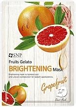 Parfums et Produits cosmétiques Masque tissu à l'extrait de pamplemousse pour visage - SNP Fruits Gelato Brightening Mask