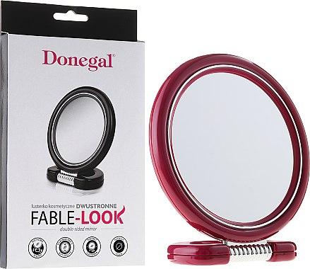 Miroir rond à poser double face, 12 cm, 9504, rose - Donegal Mirror