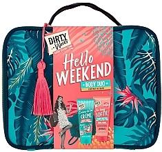 Parfums et Produits cosmétiques Coffret cadeau - Dirty Works Hello Weekend Pamperbag (b/wash/200ml + b/butter/200ml + bag)