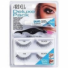Parfums et Produits cosmétiques Faux-cils avec applicateur et colle, 2 paires - Ardell Deluxe Pack 110 Black