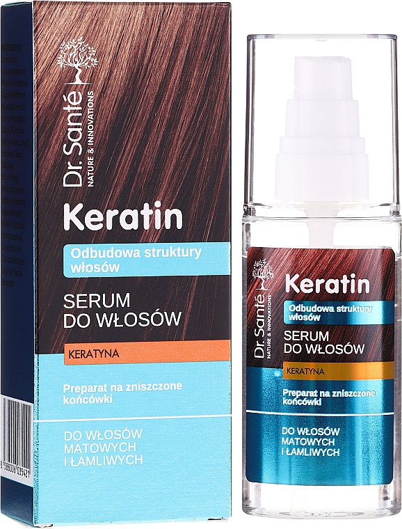 Sérum à la kératine pour cheveux ternes - Dr. Sante Keratin