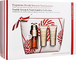 Parfums et Produits cosmétiques Coffret cadeau - Clarins Double Serum & Nutri-Lumiere Set (serum/ 30 ml + cr/ 15 ml + cr/ 15 ml + bag)
