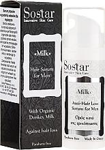 Parfums et Produits cosmétiques Sérum au lait d'ânesse pour cheveux - Sostar Donkey Milk Men Anti-Hair Loss Serum