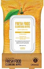 Parfums et Produits cosmétiques Lingettes nettoyantes à l'extrait d'orange pour visage - Superfood For Skin Fresh Food Facial Cleansing Wipes