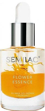 Huile protectrice à l'huile de pépins de pêche pour ongles et cuticules - Semilac Flower Essence Orange Strength