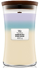 Parfums et Produits cosmétiques Bougie parfumée avec mèche en bois, Séjour au calme - Woodwick Hourglass Trilogy Candle Calming Retreat
