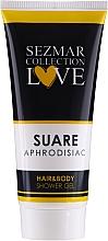 Parfums et Produits cosmétiques Gel douche à l'huile d'avocat pour cheveux et corps - Sezmar Collection Aphrodisiac Suare Hair&Body Shower Gel
