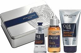 Parfums et Produits cosmétiques L'Occitane Cade Men Set - Set (fluide énergisant/20ml + gel douche/75g + nettoyant pour visage/150ml)