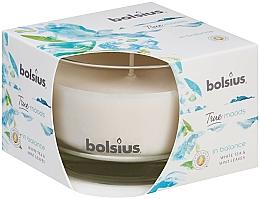 Parfums et Produits cosmétiques Bougie parfumée,Thé blanc et Feuilles de menthe, 63/90 mm - Bolsius True Moods Candle