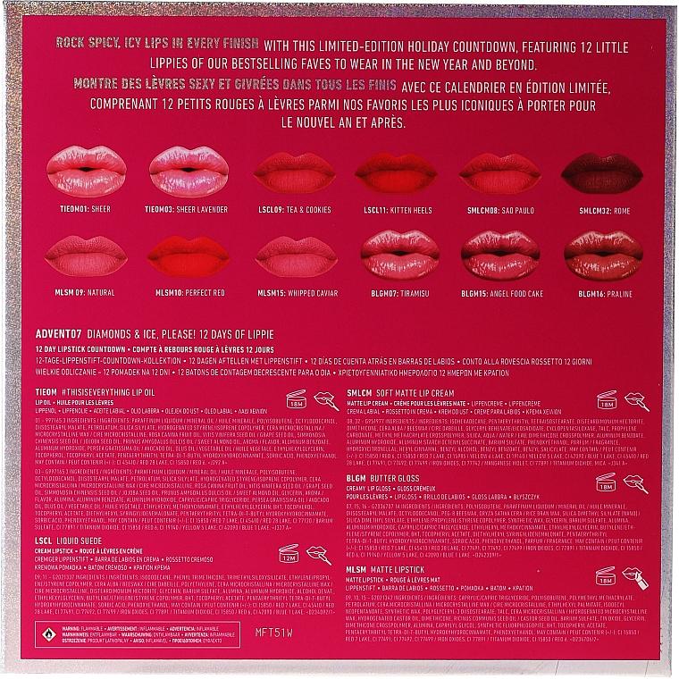 Set - NYX Professional Makeup Diamonds & Ise 12 Day Lipstick Countdown — Photo N2