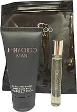 Parfums et Produits cosmétiques Jimmy Choo Man - Coffret (eau de toilette mini/7.5ml + baume après-rasage/50ml)