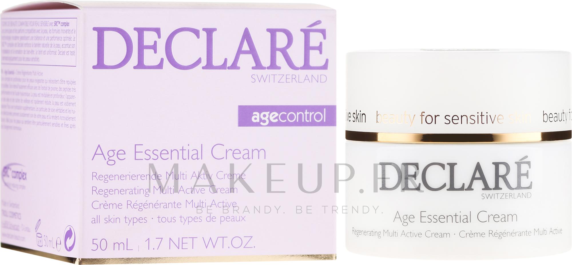 Crème à l'extrait de pivoine pour visage - Declare Age Control Age Essential Cream — Photo 50 ml