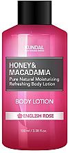 Parfums et Produits cosmétiques Lotion corporelle hydratante Rose anglaise - Kundal Honey & Macadamia Body Lotion English Rose