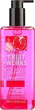 Parfums et Produits cosmétiques Gel lavant pour mains, Rhubarbe et grenade - Grace Cole Fruit Works Hand Wash Rhubarb & Pomegranate