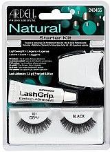 Parfums et Produits cosmétiques Faux-cils avec colle 101 - Ardell Natural Starter Kit Demi Black 101