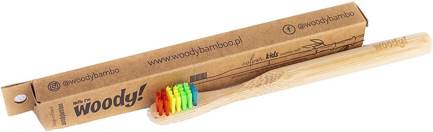Brosse à dents en bambou, souple - WoodyBamboo Bamboo Toothbrush Kids Soft/Medium